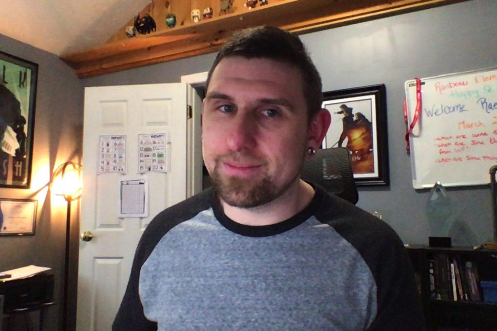 Matt Leavitt working from home